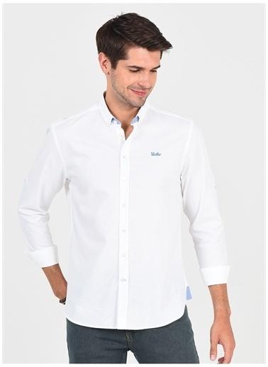 UCLA Ucla Jackson Beyaz Erkek Gömlek Beyaz
